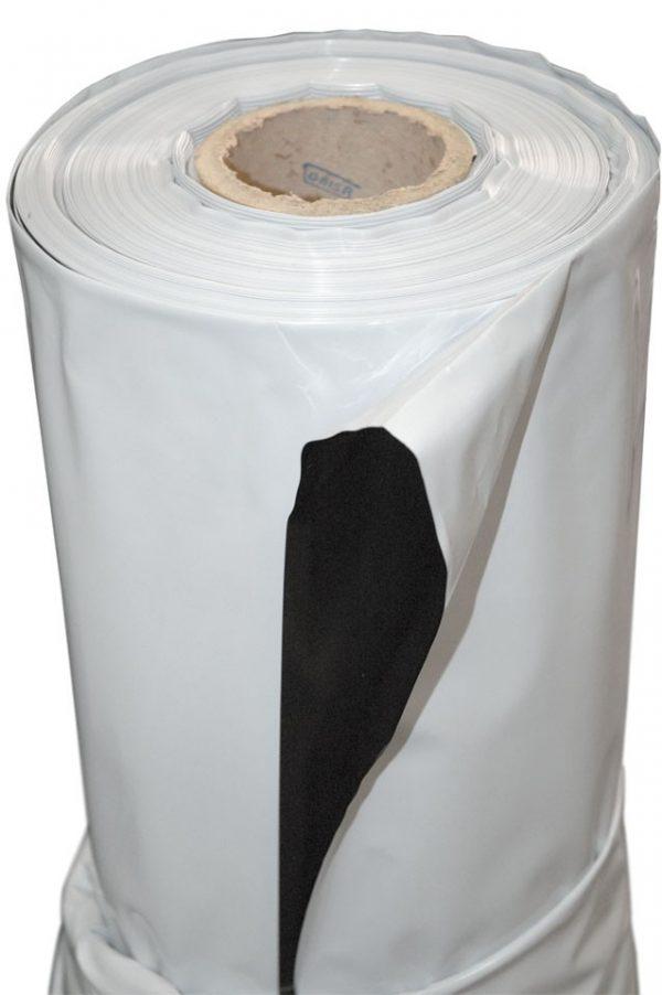 PLASTICO BLANCO/NEGRO 3 x30 MTS